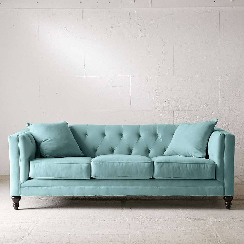 Graham Microfiber Sofa | Everything Turquoise pertaining to Blue Microfiber Sofas (Image 7 of 15)