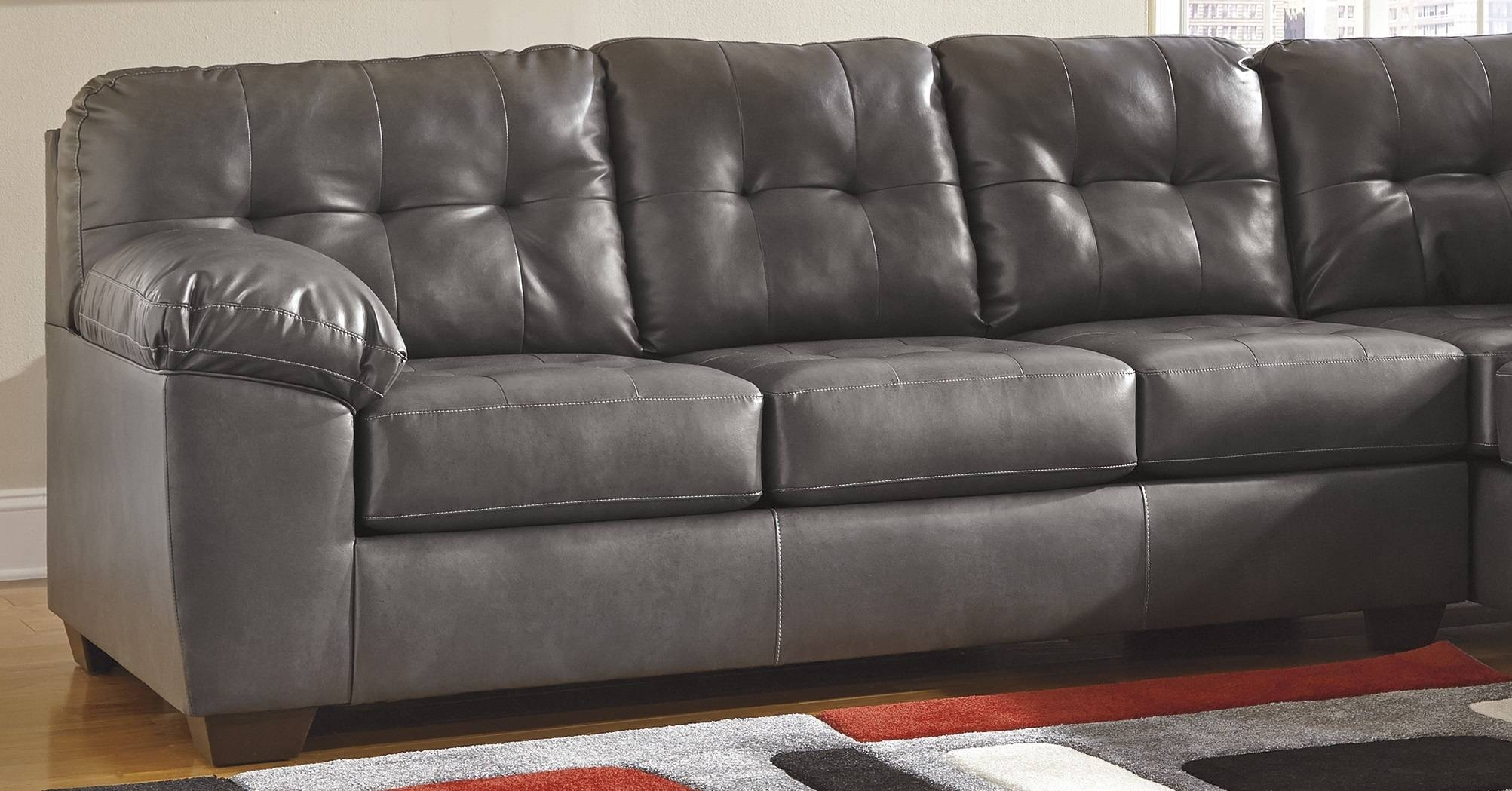 Gray Leather Sofa – Helpformycredit throughout Charcoal Grey Leather Sofas (Image 10 of 15)