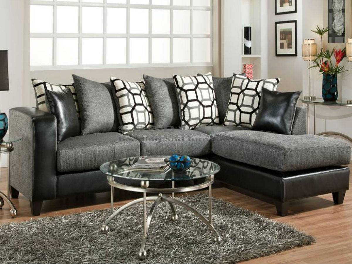 Gray Sectional Sofa With Chaise Lounge | Centerfieldbar in Charcoal Gray Sectional Sofas (Image 6 of 15)