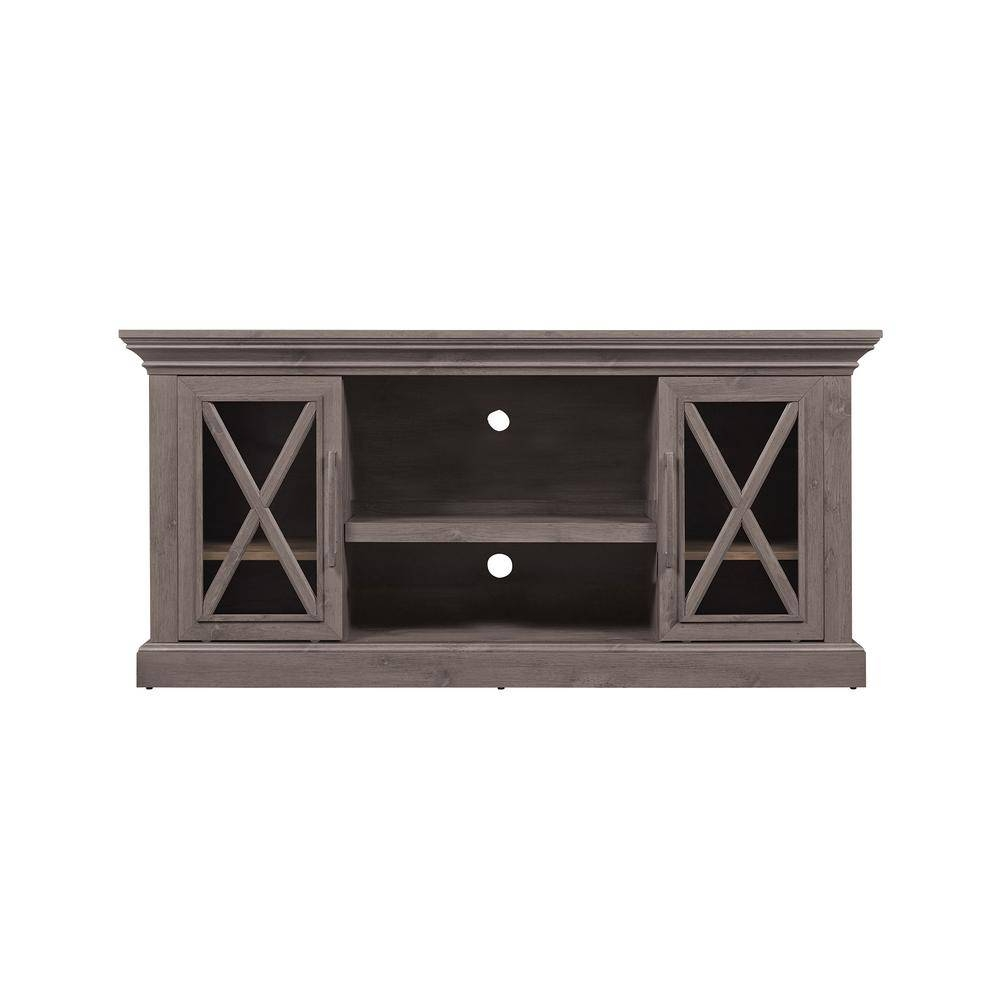 Gray – Tv Stands – Living Room Furniture – The Home Depot For Rustic 60 Inch Tv Stands (View 10 of 15)
