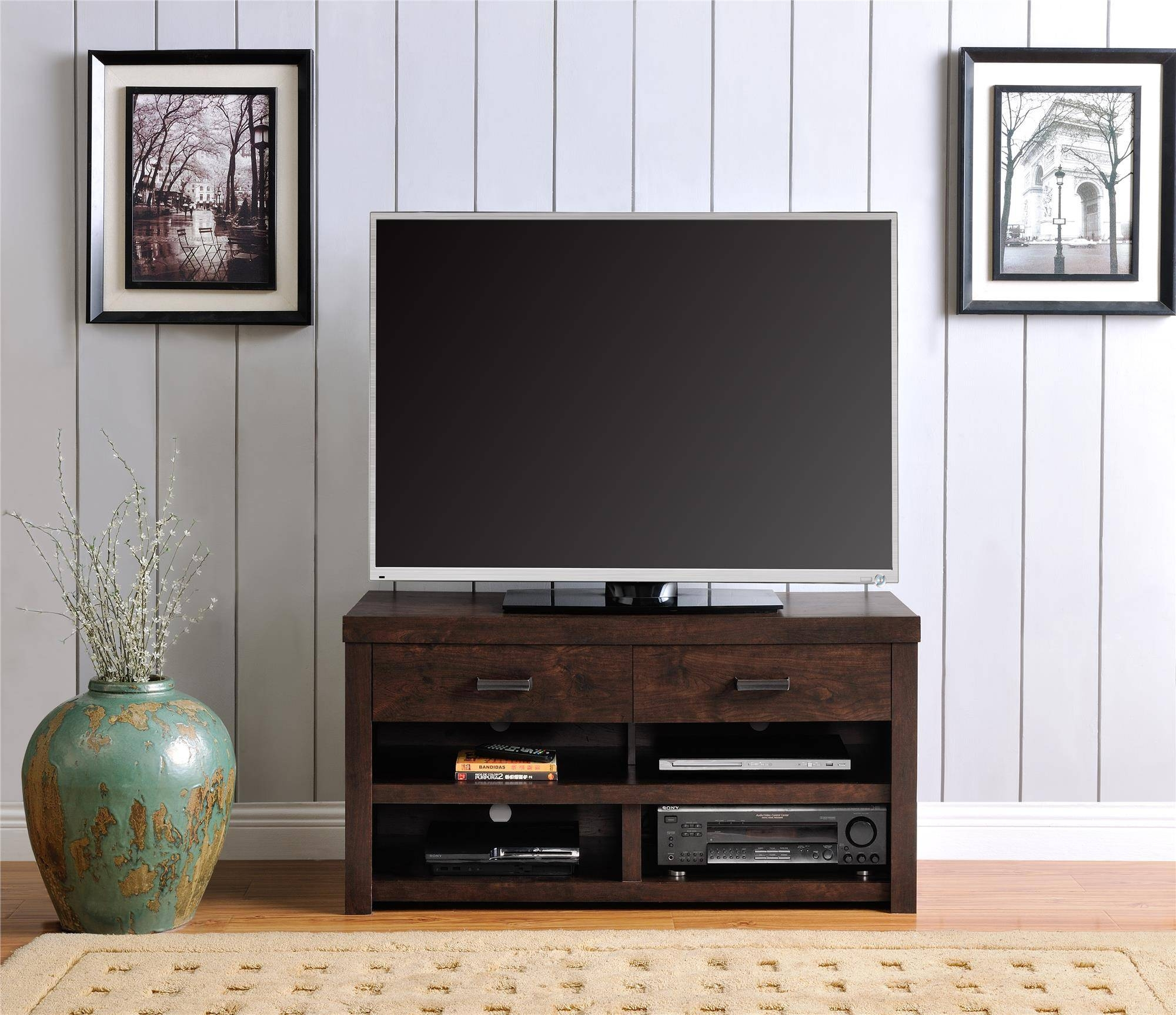 Great Dark Walnut Tv Stand 75 On Home Pictures With Dark Walnut Tv With Dark Walnut Tv Stands (View 13 of 15)
