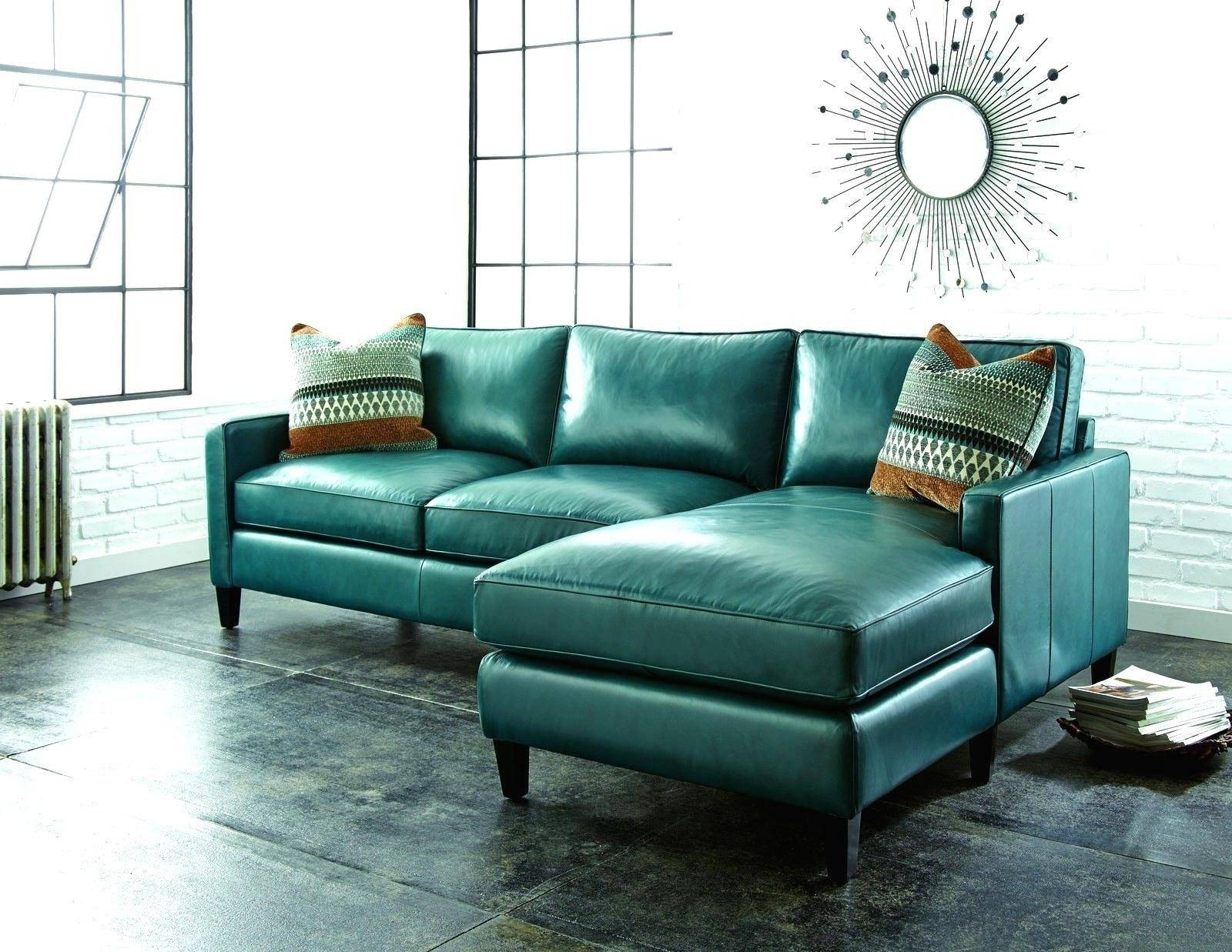 Best 15 of Green Leather Sectional Sofas