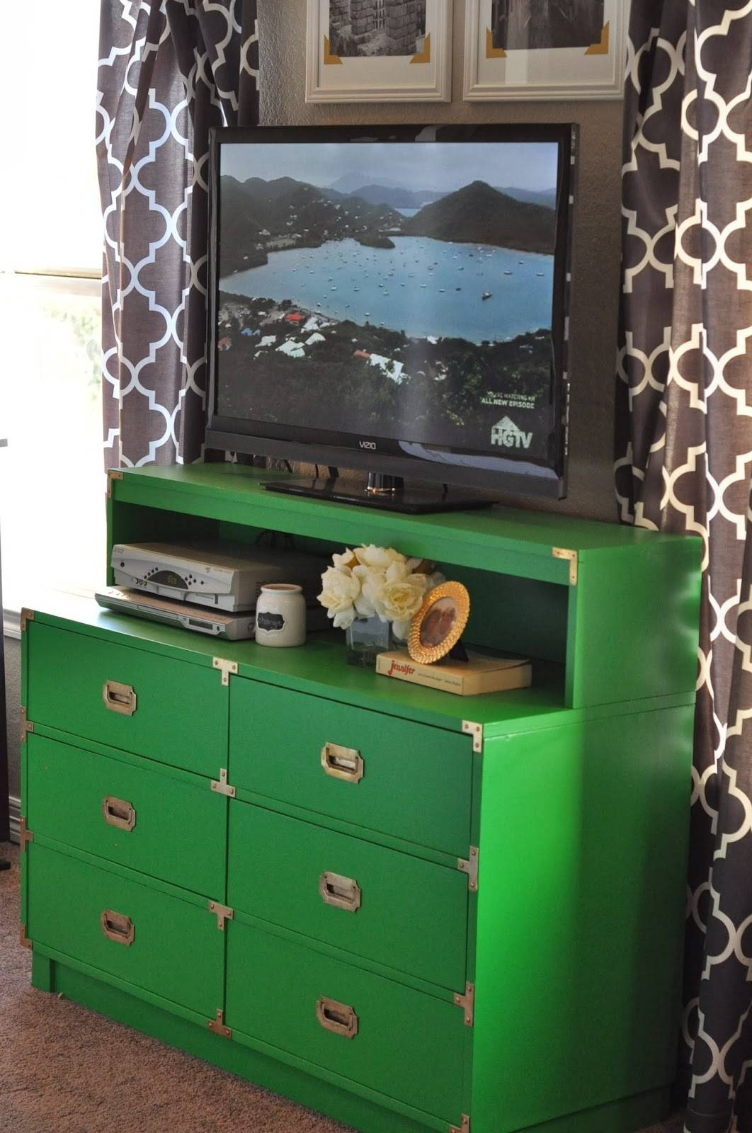 Green Painted Furniture Makeovers – Craftivity Designs throughout Green Tv Stands (Image 5 of 15)