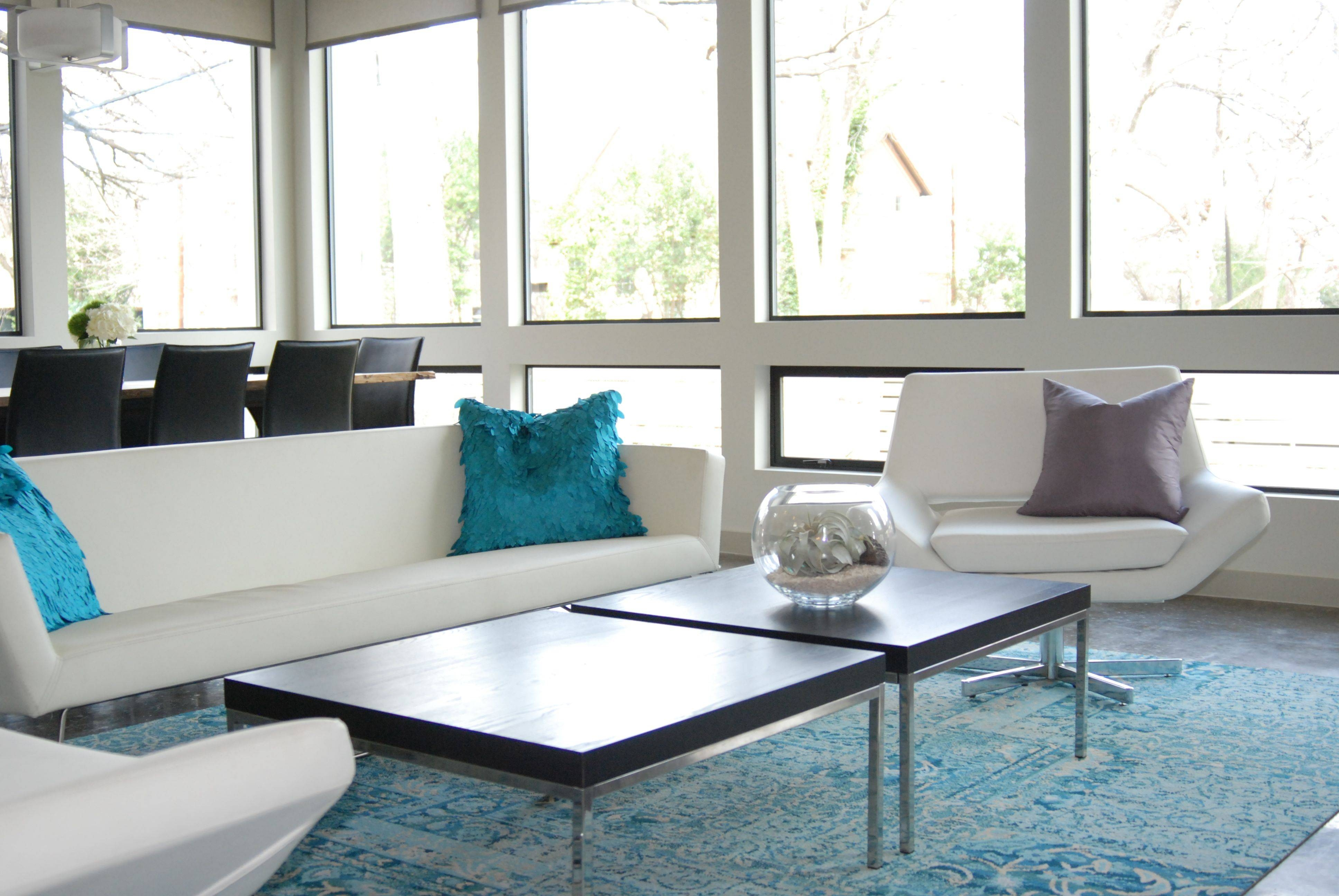Grey Blue Carpet Living Room | Centerfieldbar for Blue and White Sofas (Image 6 of 15)
