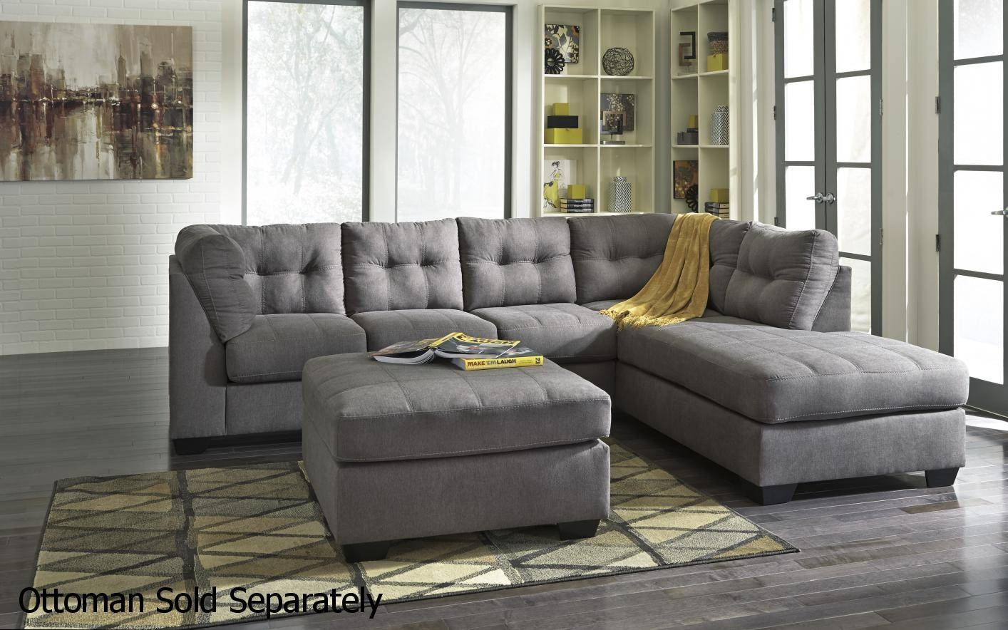 Grey Fabric Sectional Sofa - Steal-A-Sofa Furniture Outlet Los in Ashley Furniture Leather Sectional Sofas (Image 12 of 15)