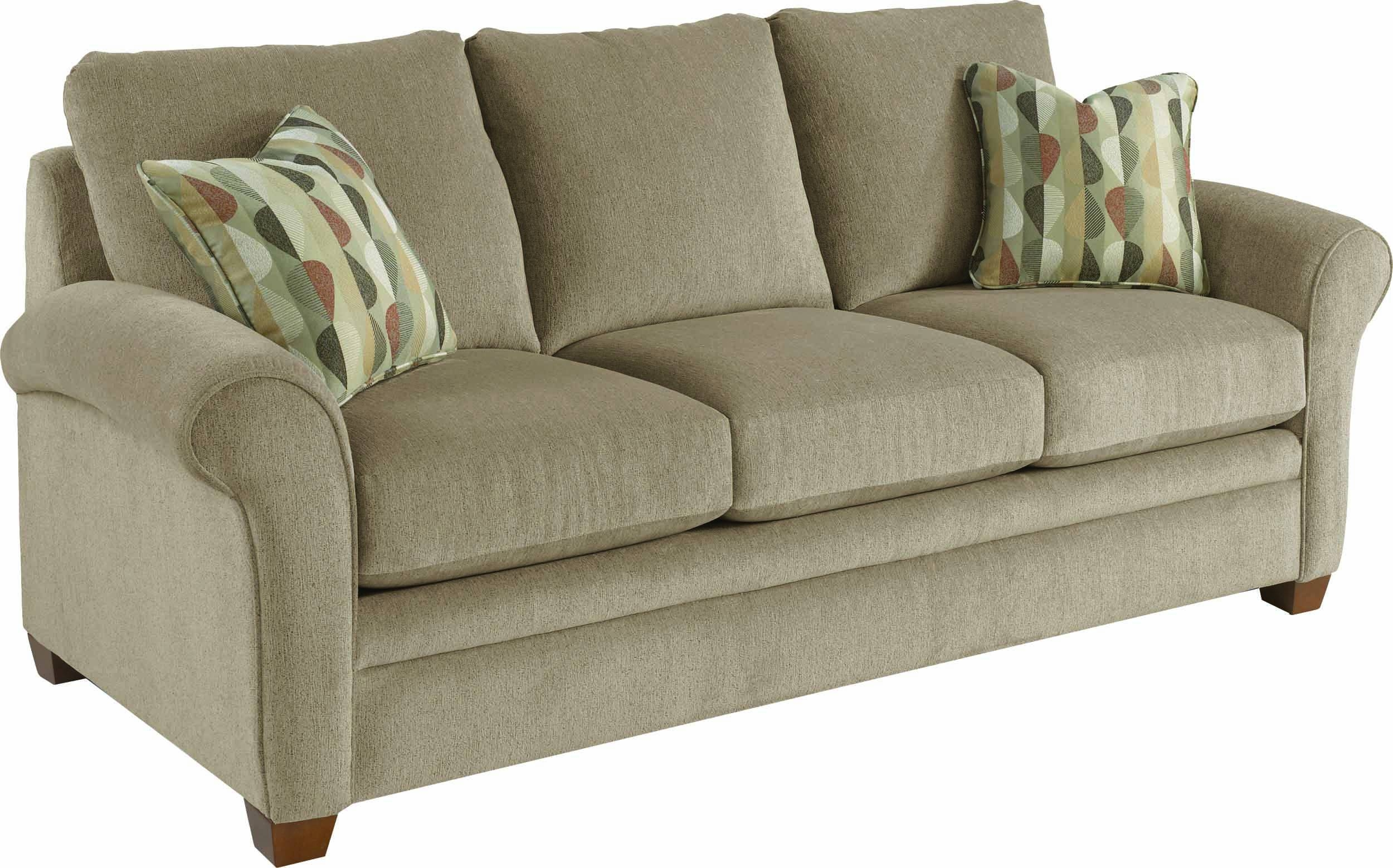 Grey Lazy Boy Sleeper Sofa With 3 Cushions Wingback And Wooden regarding Lazy Boy Sofas (Image 5 of 15)