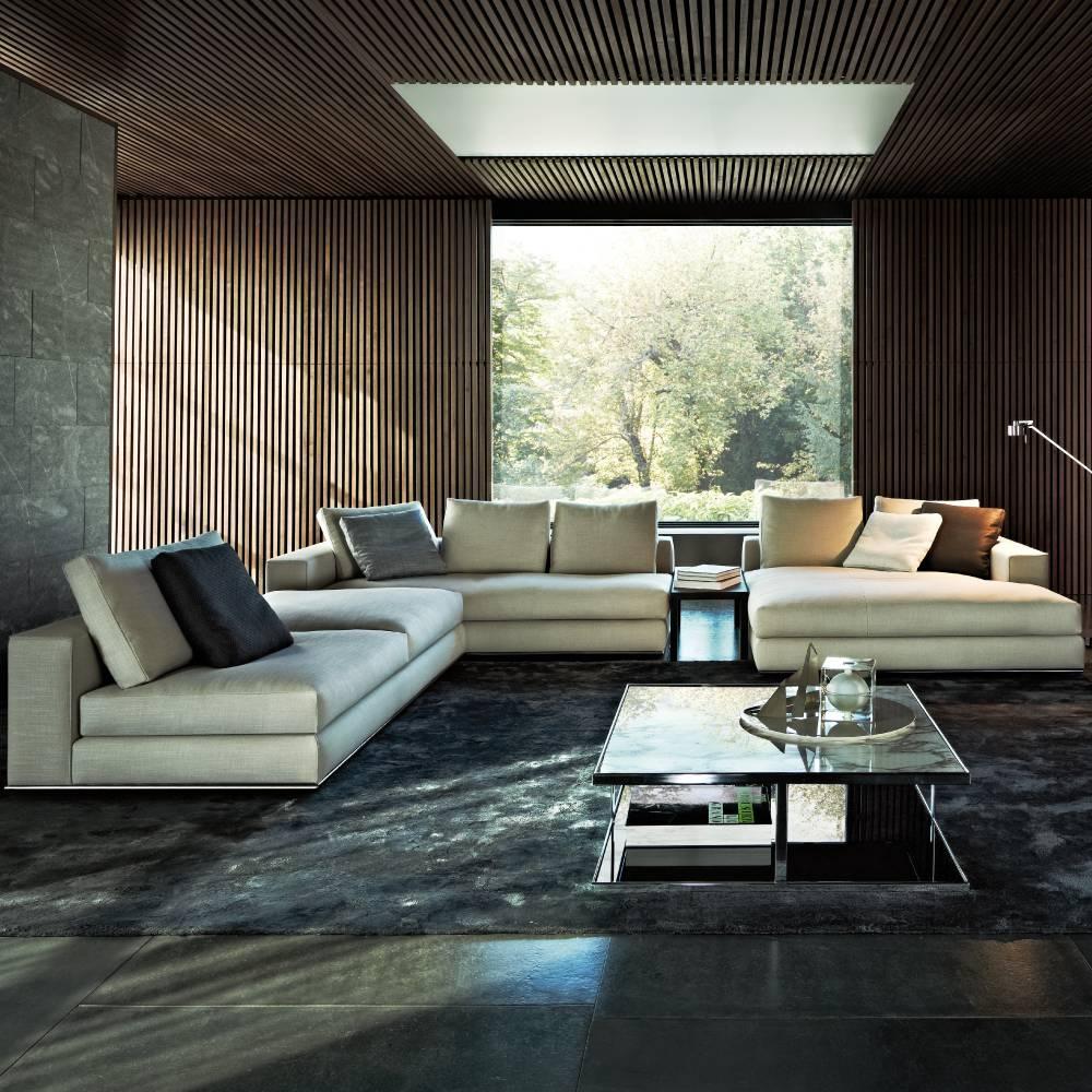 Hamilton Sofa | Designedrodolfo Dordoni, Minotti, Orange Skin throughout Hamilton Sofas (Image 11 of 15)