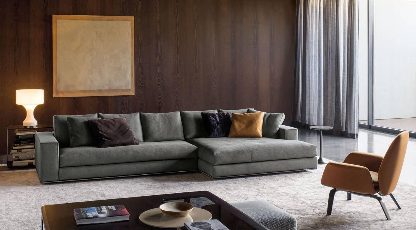 Hamilton Sofa | Designedrodolfo Dordoni, Minotti, Orange Skin throughout Hamilton Sofas (Image 10 of 15)