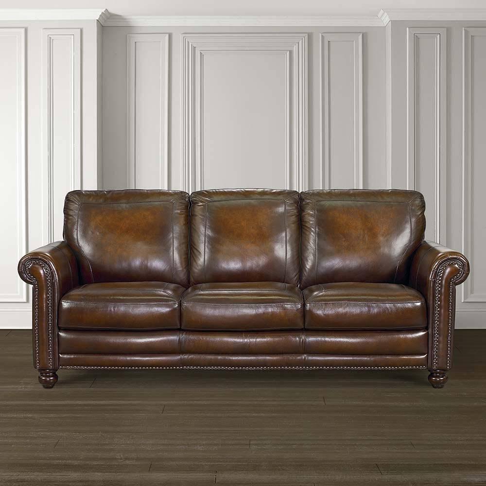 Hamilton Sofa - Leather - Living Room | Bassett Furniture with regard to Hamilton Sofas (Image 4 of 15)