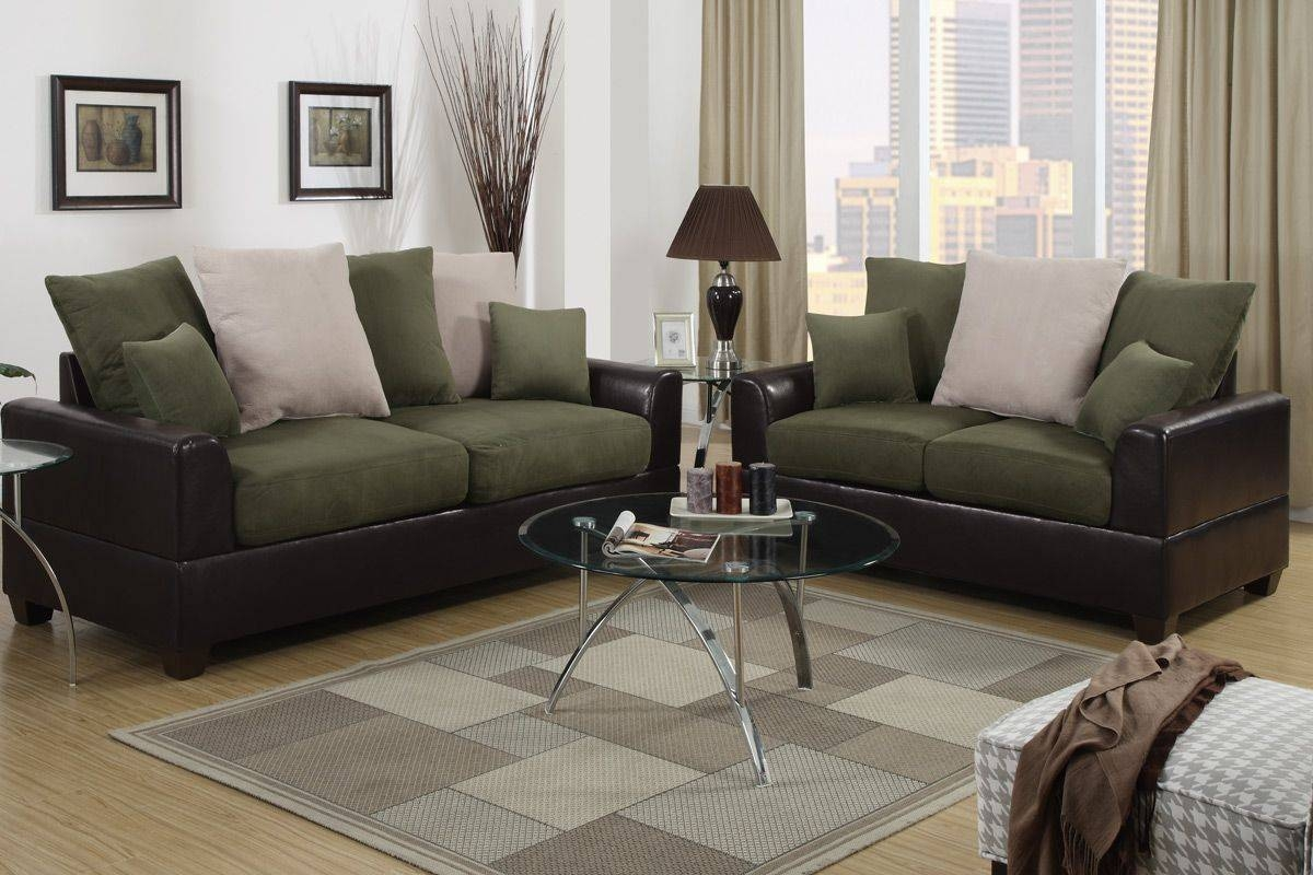 Featured Photo of Green Microfiber Sofas