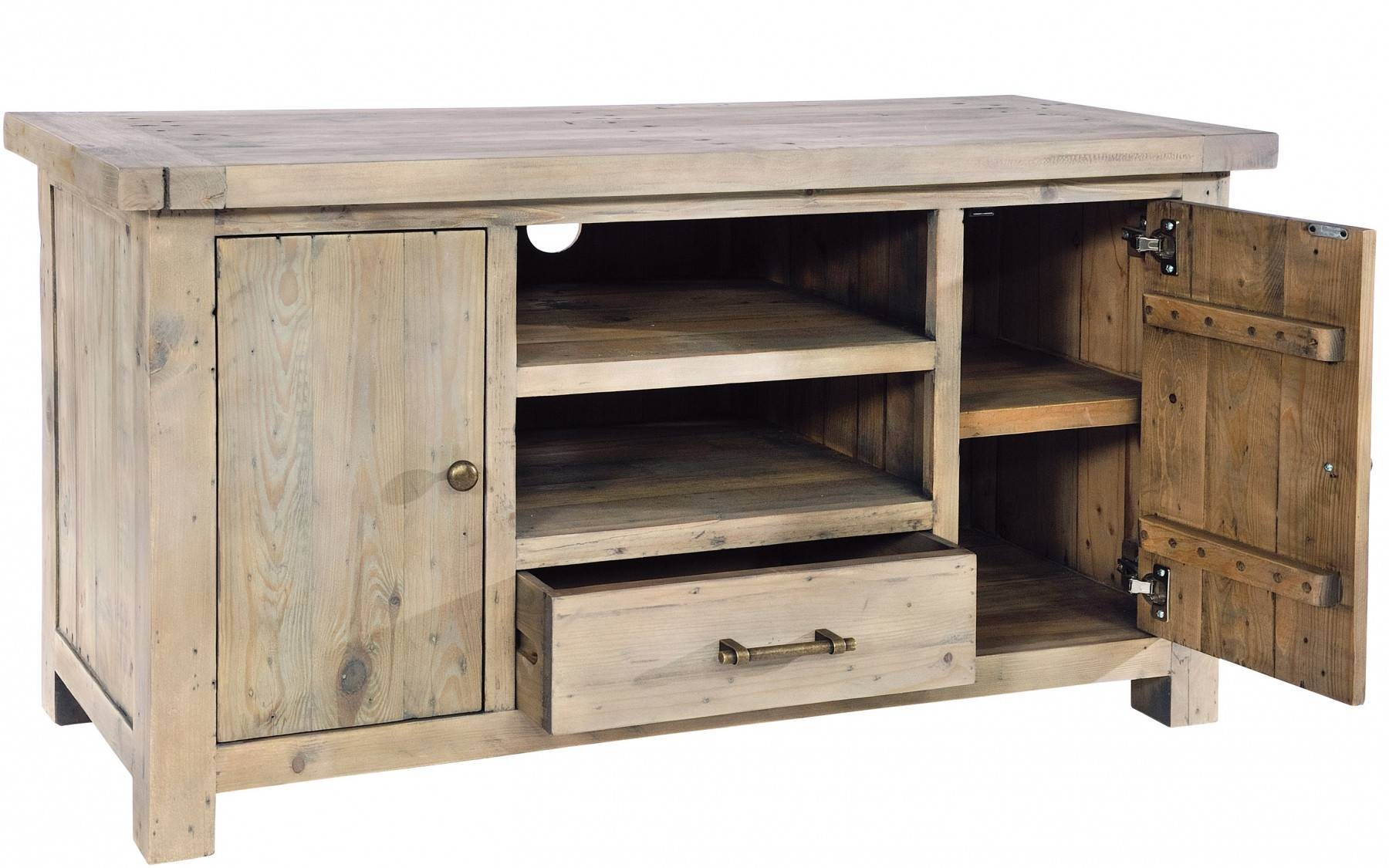 Harper Reclaimed Pine Tv Unit | Buy At Kontenta with Pine Tv Unit (Image 6 of 15)