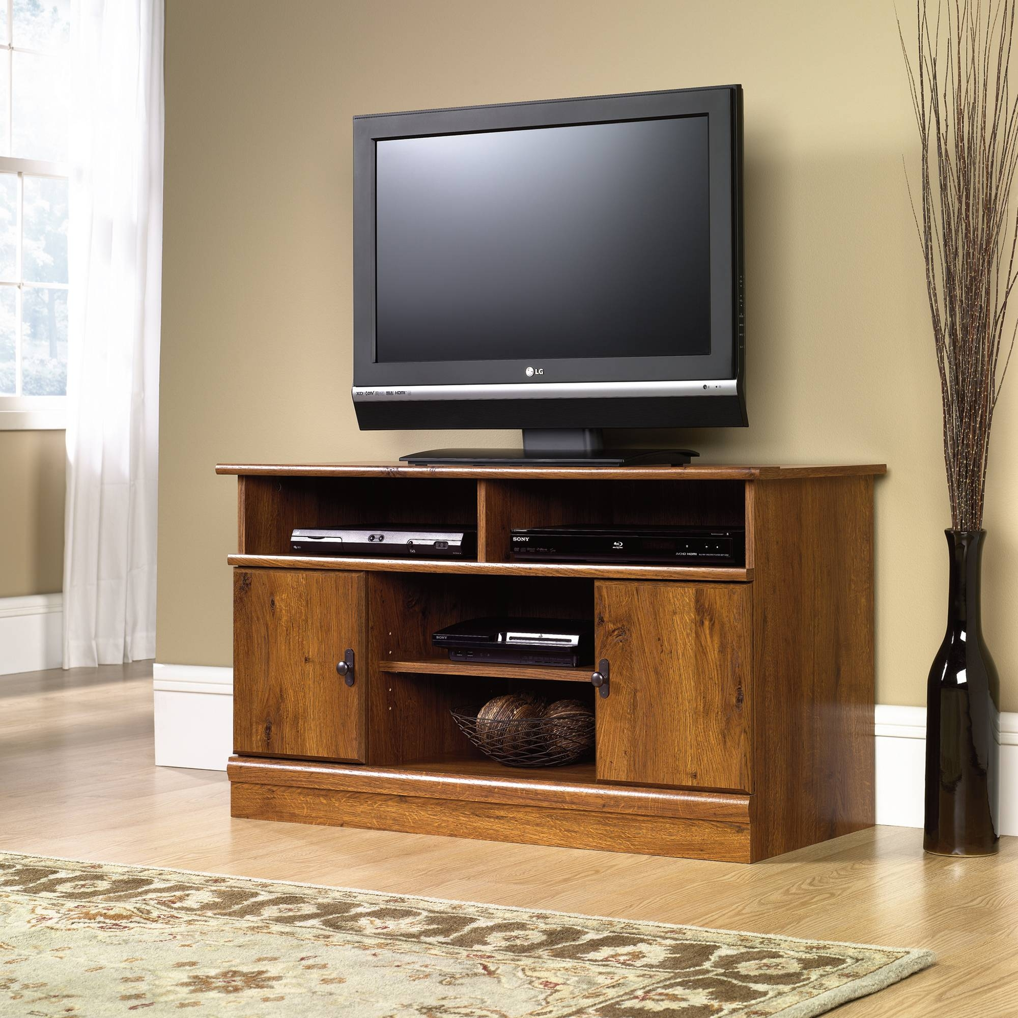 Harvest Mill | Panel Tv Stand | 407432 | Sauder Regarding Tv Stands For 43 Inch Tv (View 8 of 15)
