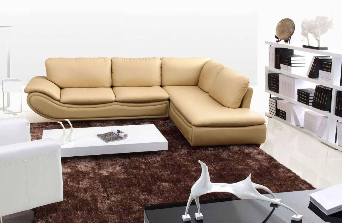 He-917 Modern Leather Sectional Sofa | Leather Sectionals throughout Modern Small Sectional Sofas (Image 7 of 15)