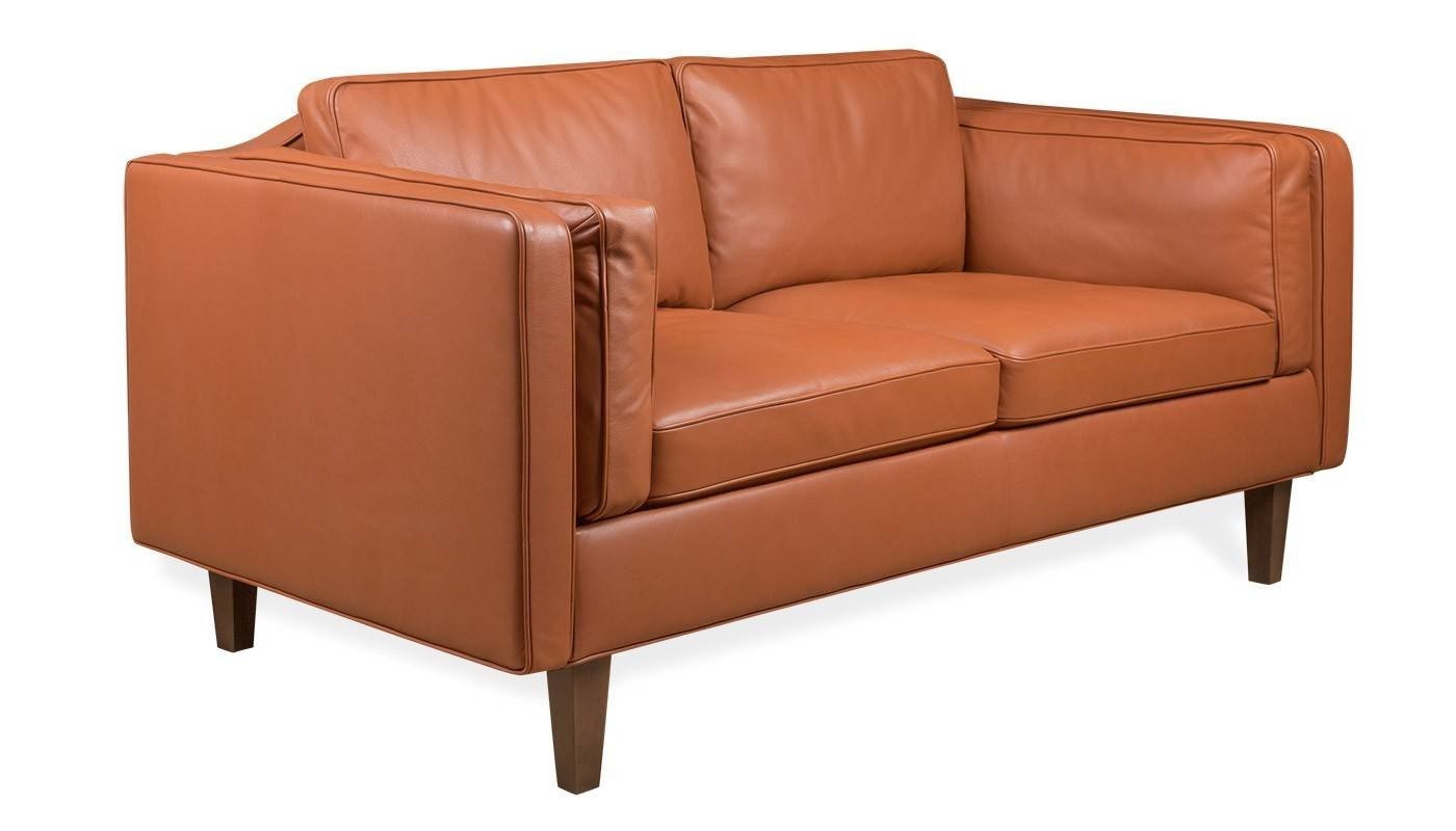 Heal's Chill 2 Seater Sofa with Danish Leather Sofas (Image 11 of 15)