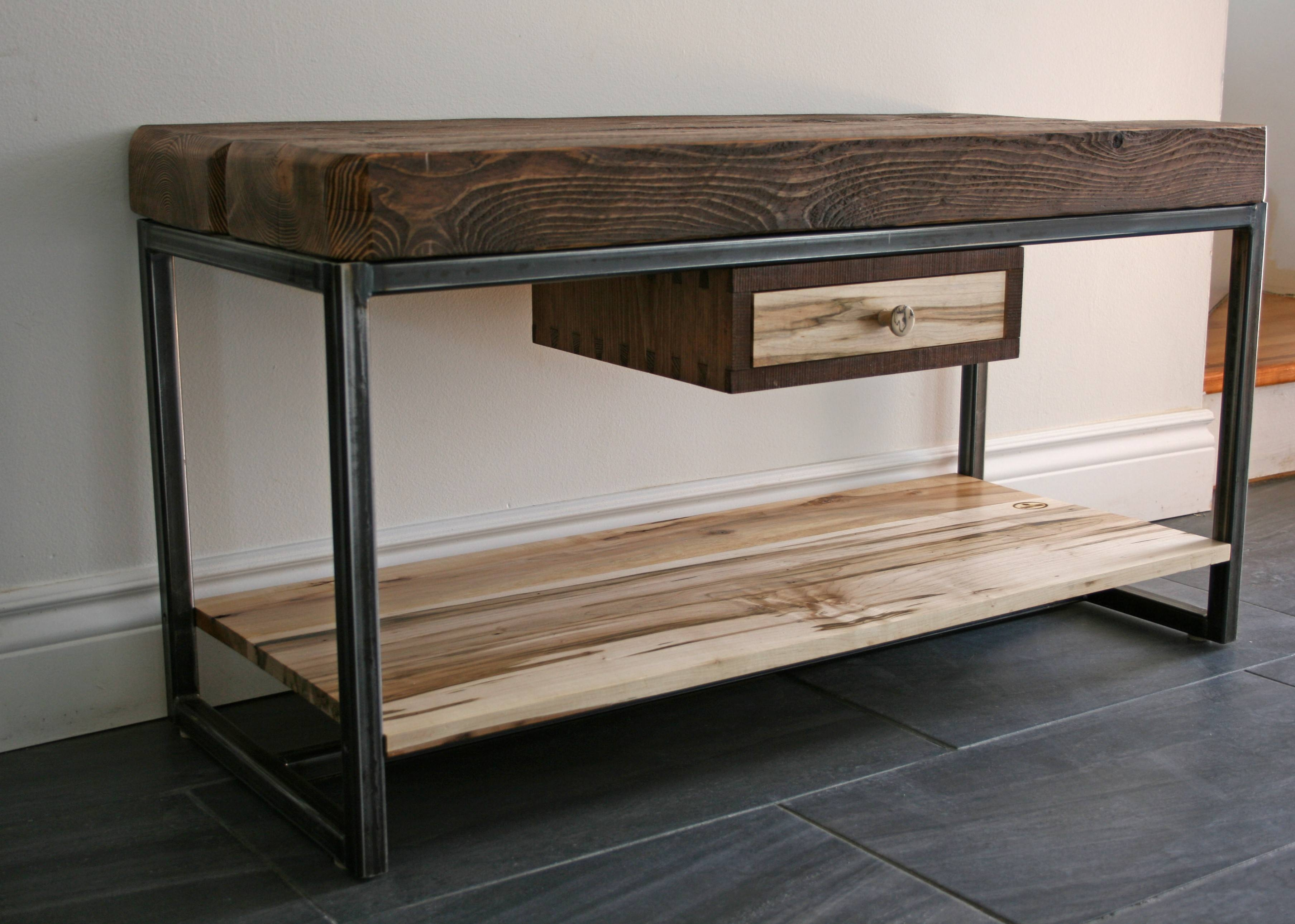 Hemlock And Wormy Maple Tv Stand | Second Nature Wood Design in Maple Tv Cabinets (Image 8 of 15)