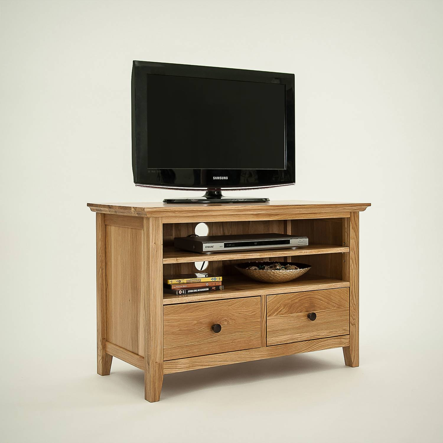 Hereford Rustic Oak Small Tv Unit (View 8 of 15)