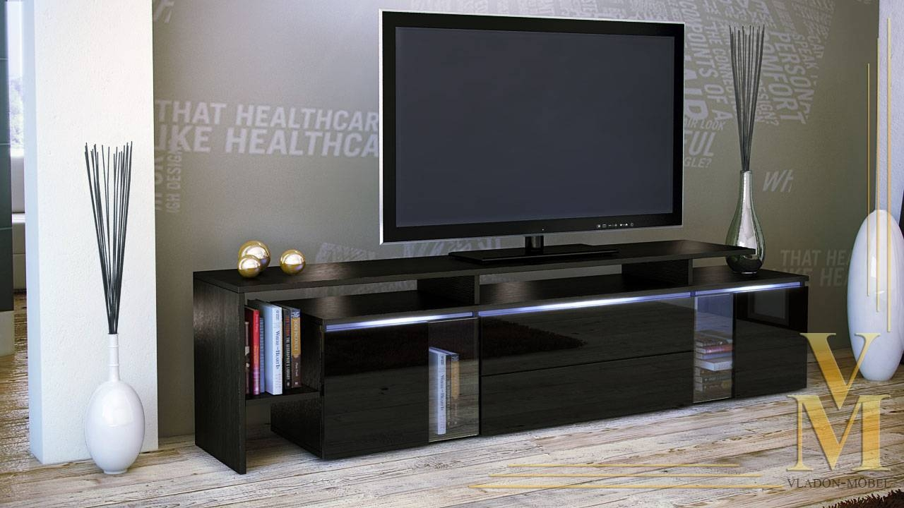 High Gloss Black Tv Cabinet | Bar Cabinet With Regard To Shiny Black Tv Stands (View 7 of 15)