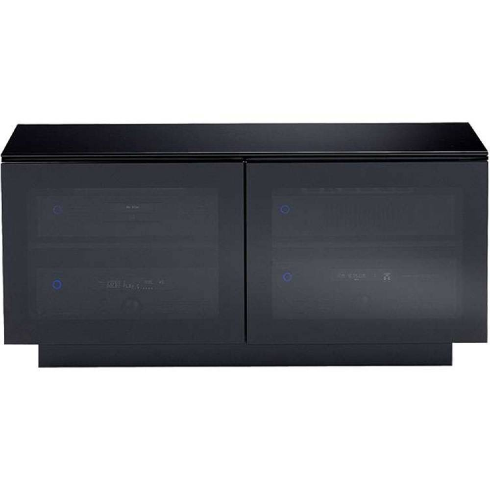 High Gloss Corner Media Stand Wide Storage Flat Screen pertaining to Black Tv Cabinets With Doors (Image 9 of 15)