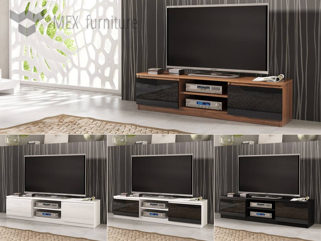 High Gloss Tv Cabinets, Unit - Mex Furniture in Beam Thru Tv Cabinet (Image 10 of 15)