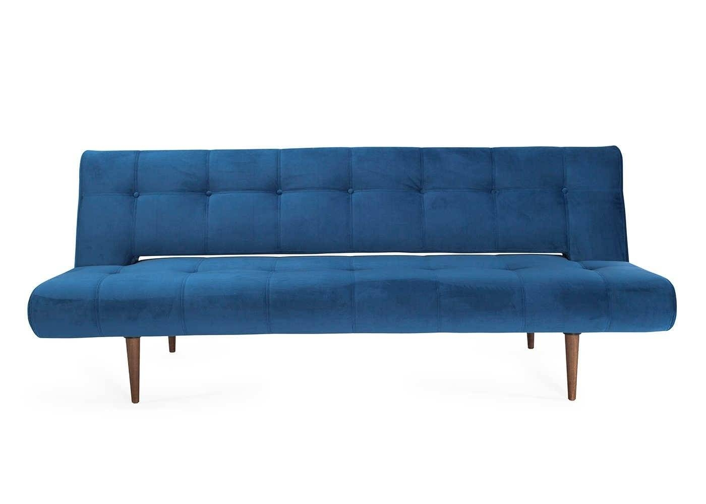 Hinge Luxe Sofa Bed Dessin Velvet Royal Blue - Sofa Beds - Sofas with regard to Luxe Sofas (Image 7 of 15)
