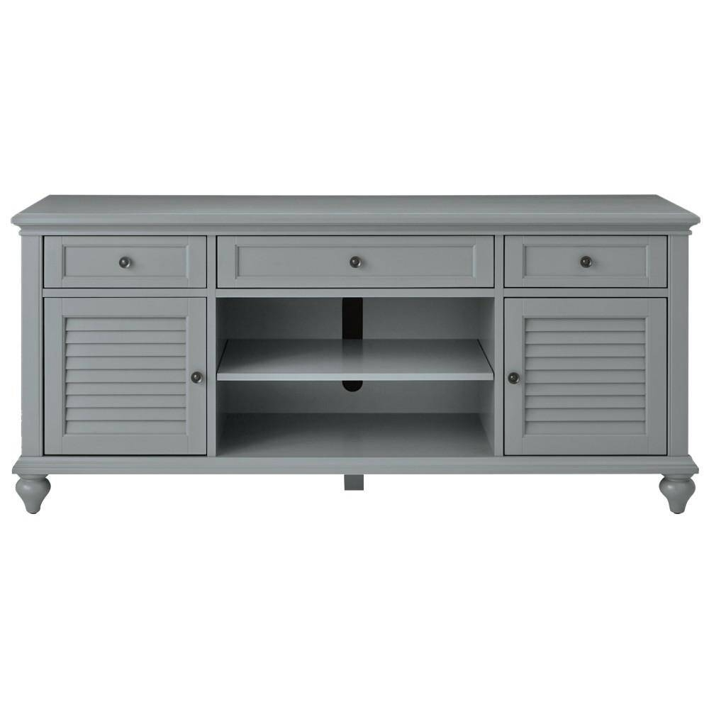 Home Decorators Collection Hamilton 26 In. Grey Tv Stand with Grey Tv Stands (Image 5 of 15)