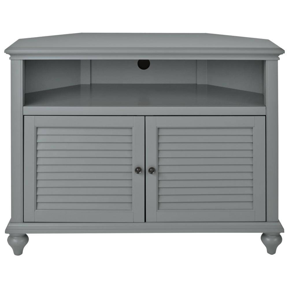 Home Decorators Collection Hamilton 31 In H Highboy Corner Tv for Grey Corner Tv Stands (Image 6 of 15)