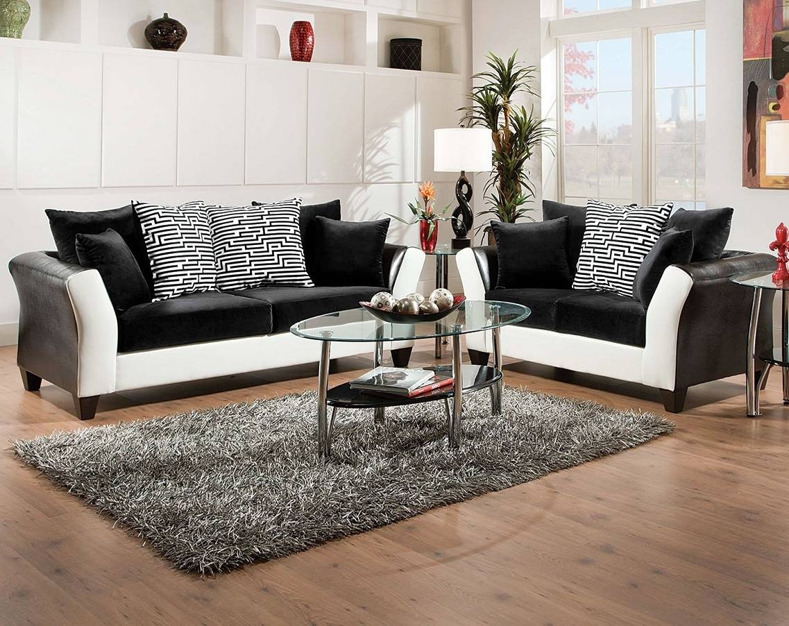 Home Design : 89 Wonderful Black And White Sofa Sets in Black And White Sofas And Loveseats (Image 8 of 15)