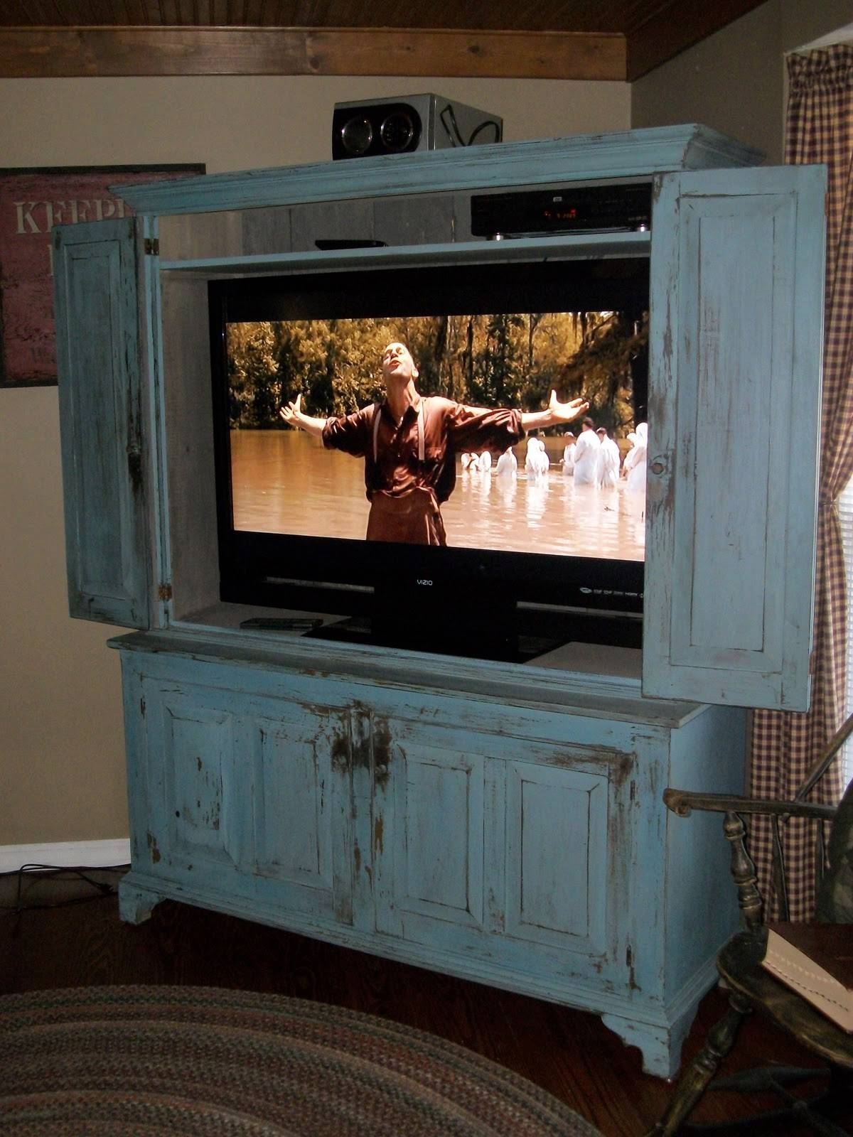 15 Inspirations Of Enclosed Tv Cabinets For Flat Screens