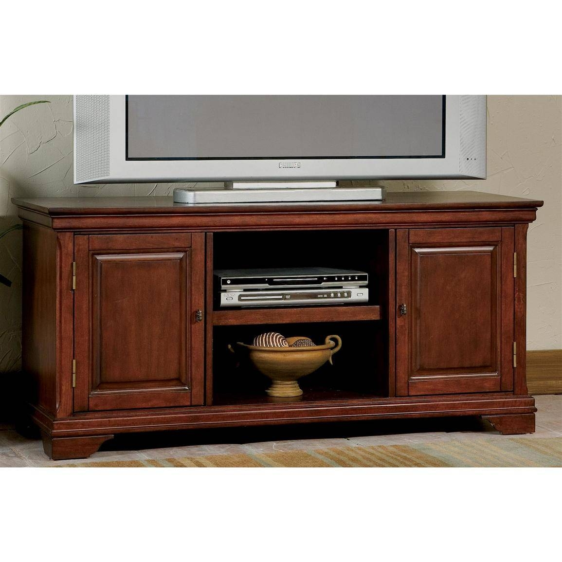 Home Styles™ Lafayette Tv Stand, Cherry - 172195, Entertainment with regard to Cherry Tv Stands (Image 9 of 15)