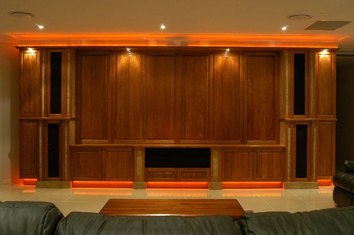 Home Theatre Gallery – Blue Gum Joinery Pty Ltd With Traditional Tv Cabinets (View 10 of 15)
