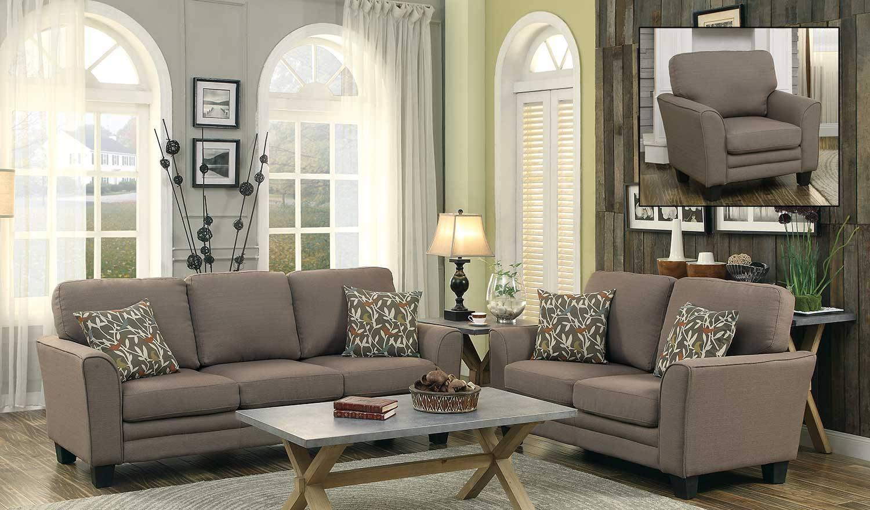 Homelegance Adair Sofa Set - Grey 8413Gy-Sofa-Set regarding Homelegance Sofas (Image 2 of 15)