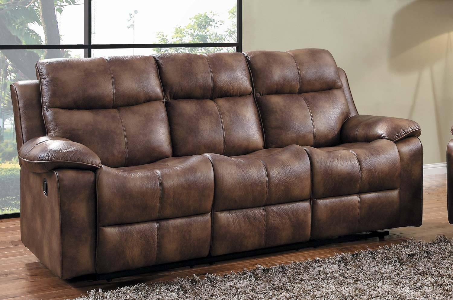 Homelegance Brooklyn Heights Double Recliner Sofa - Polished for Microsuede Sofa Beds (Image 5 of 15)