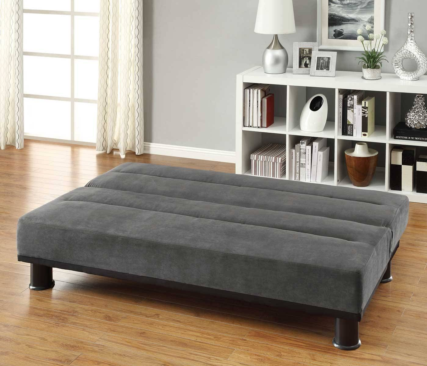 Homelegance Callie Click-Clack Sofa Bed - Graphite - Grey with Clic Clac Sofa Beds (Image 9 of 15)