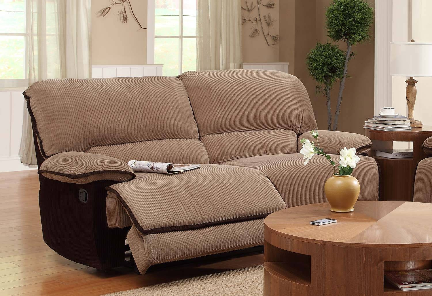 Homelegance Grantham Sofa Dual Recliner - Brown - Corduroy 9717-3 in Brown Corduroy Sofas (Image 7 of 15)