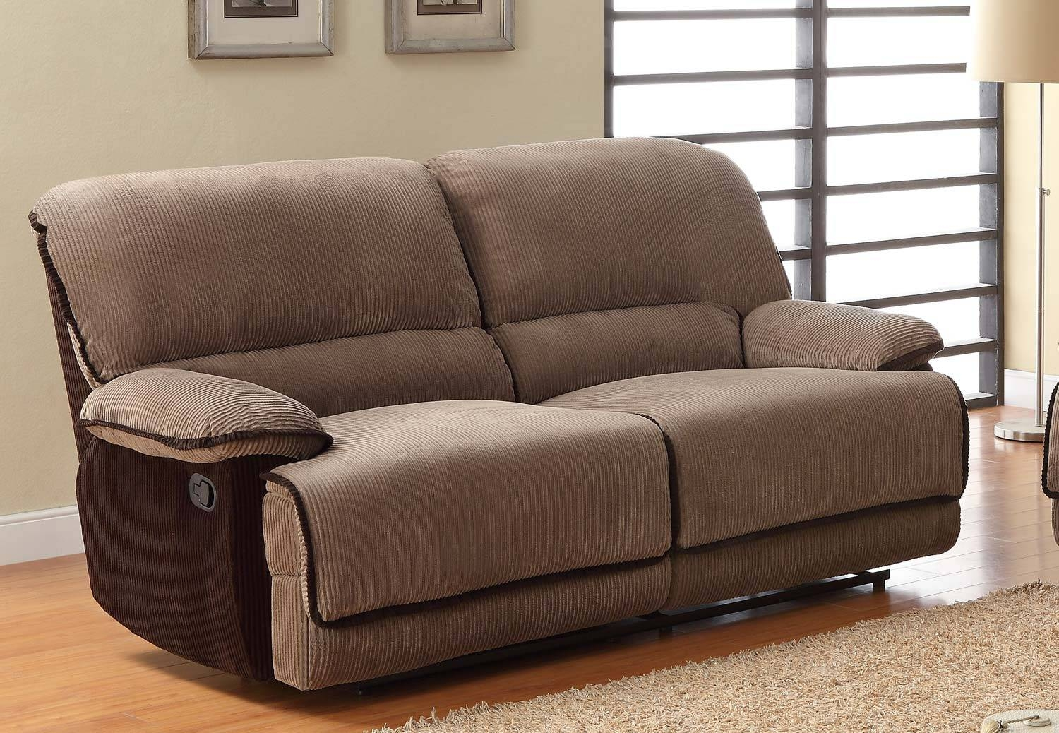 Homelegance Grantham Sofa Dual Recliner - Brown - Corduroy 9717-3 pertaining to Brown Corduroy Sofas (Image 8 of 15)