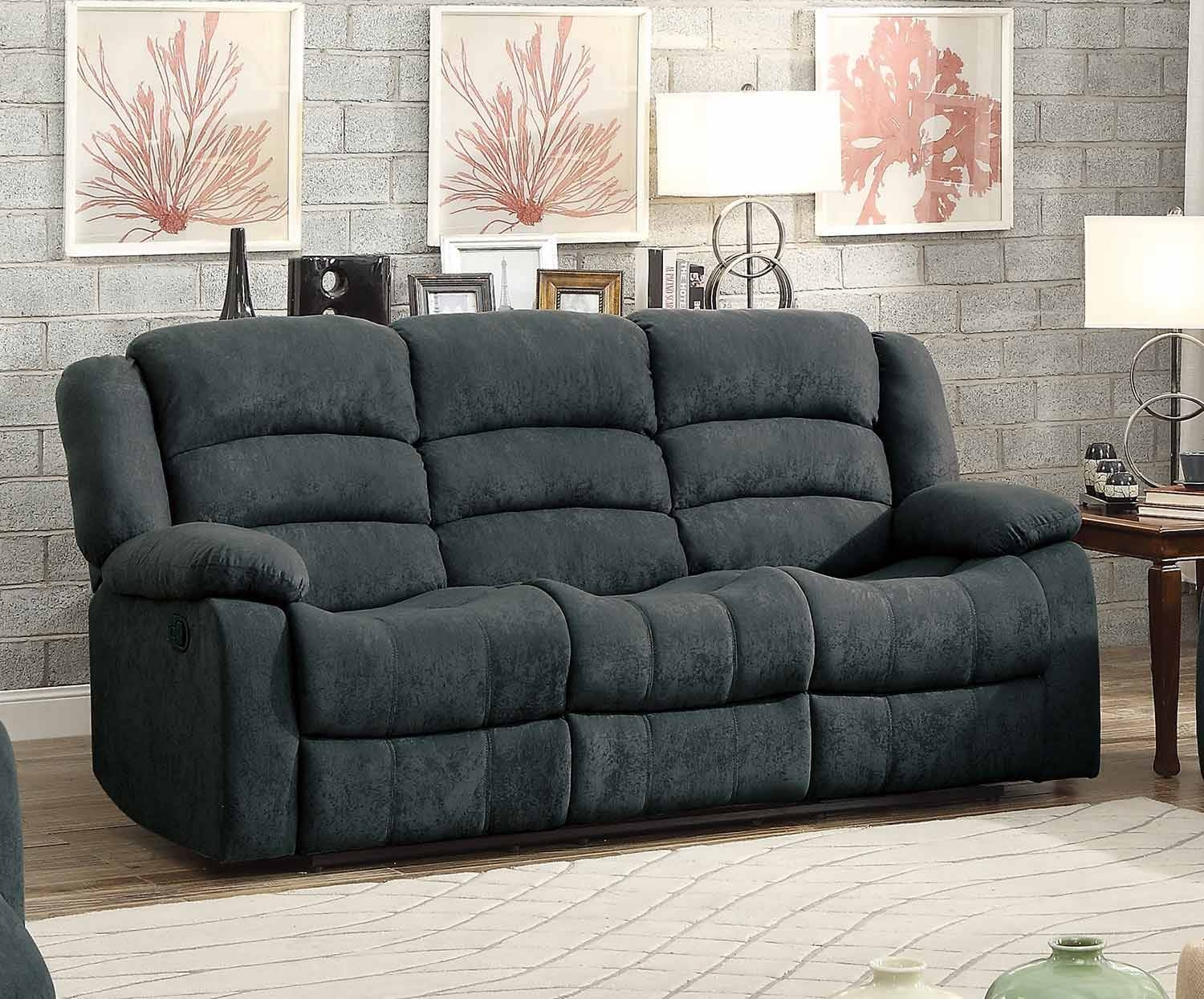 Homelegance Greenville Reclining Sofa Set - Blue Grey 8436Gy-Sofa in Blue Grey Sofas (Image 10 of 15)