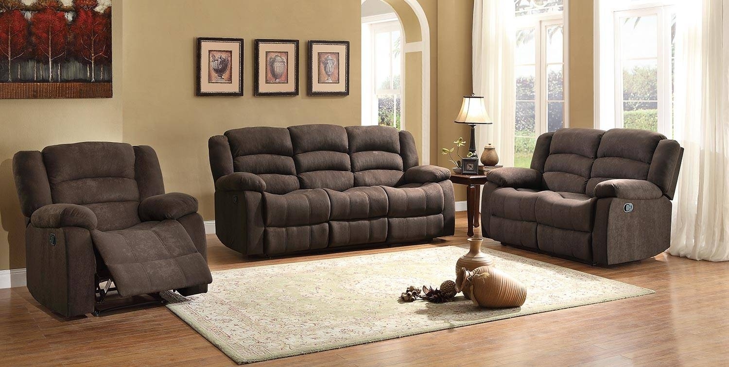 Homelegance Greenville Reclining Sofa Set - Chocolate 8436Ch-Sofa in Homelegance Sofas (Image 9 of 15)