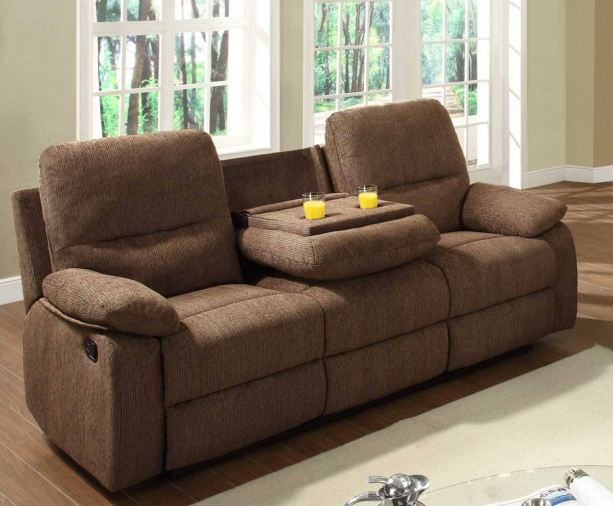 Homelegance Marianna Double Reclining Sofa With Center Drop Down With Regard To Sofas With Console (View 8 of 15)