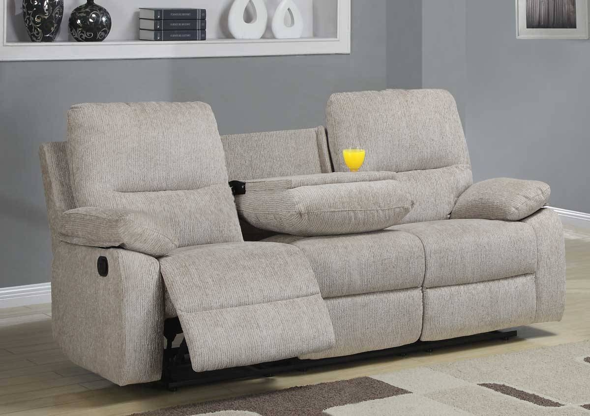 Homelegance Marianna Double Reclining Sofa With Center Drop Down Within Sofas With Console (View 9 of 15)