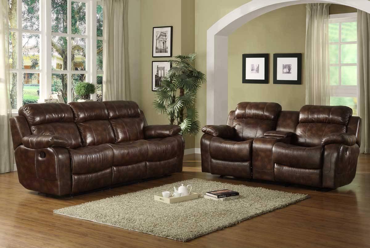 Homelegance Marille Reclining Sofa Set - Polished Microfiber intended for Homelegance Sofas (Image 10 of 15)