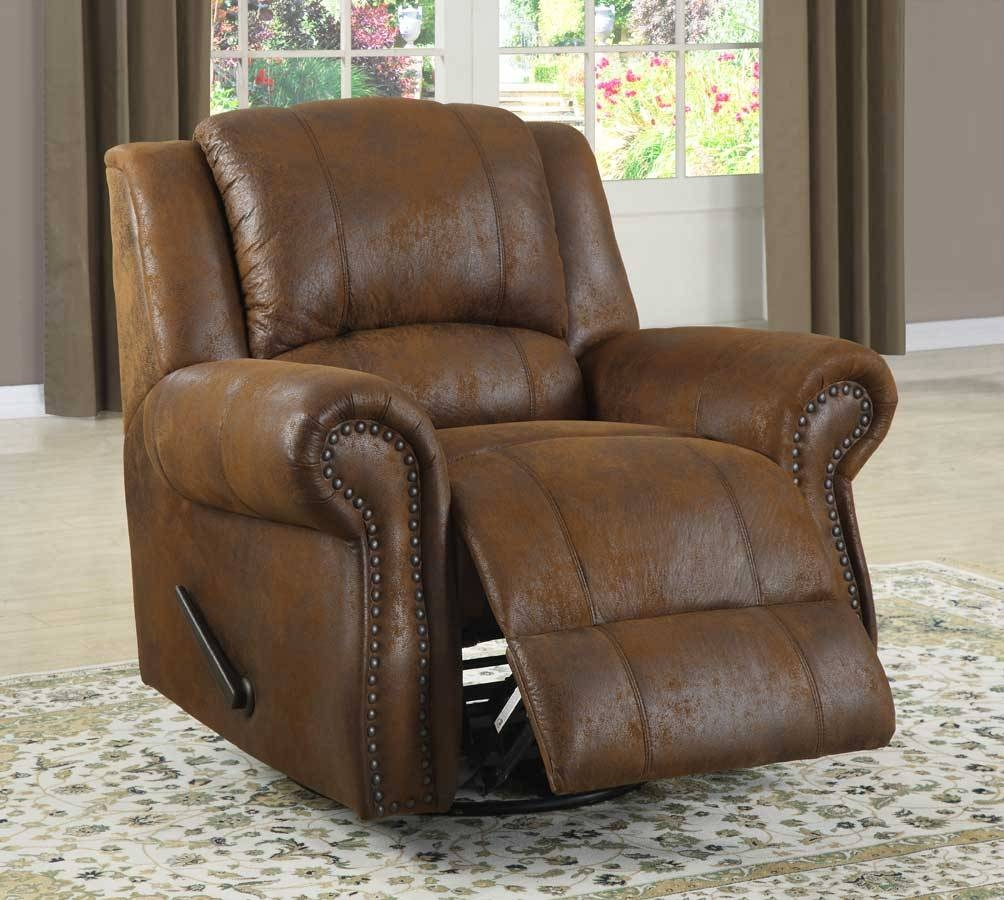 Homelegance Quinn Swivel Rocking Reclining Chair - Bomber Jacket within Bomber Leather Sofas (Image 9 of 15)