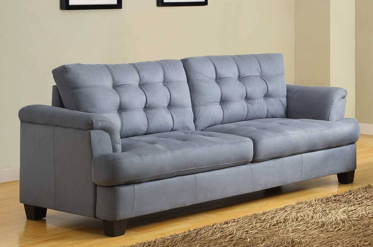 Homelegance St. Charles Sofa - Blue Gray 9736-3 in Blue Grey Sofas (Image 11 of 15)