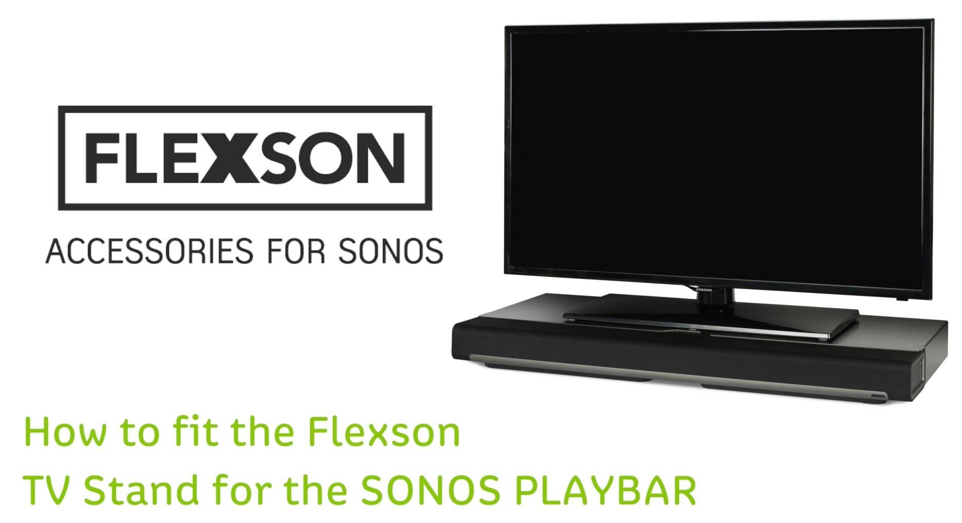 How To Fit The Flexson Tv Stand For The Sonos Playbar – Youtube Intended For Sonos Tv Stands (View 8 of 15)