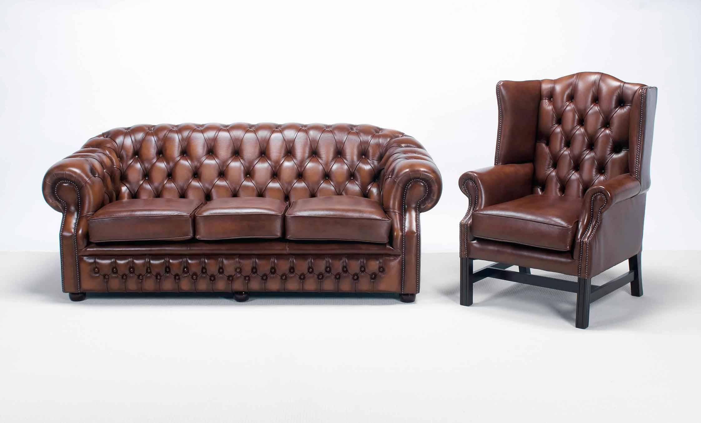 How To Identify A Real Chesterfield Sofa — Interior Home Design within Red Leather Chesterfield Chairs (Image 10 of 15)