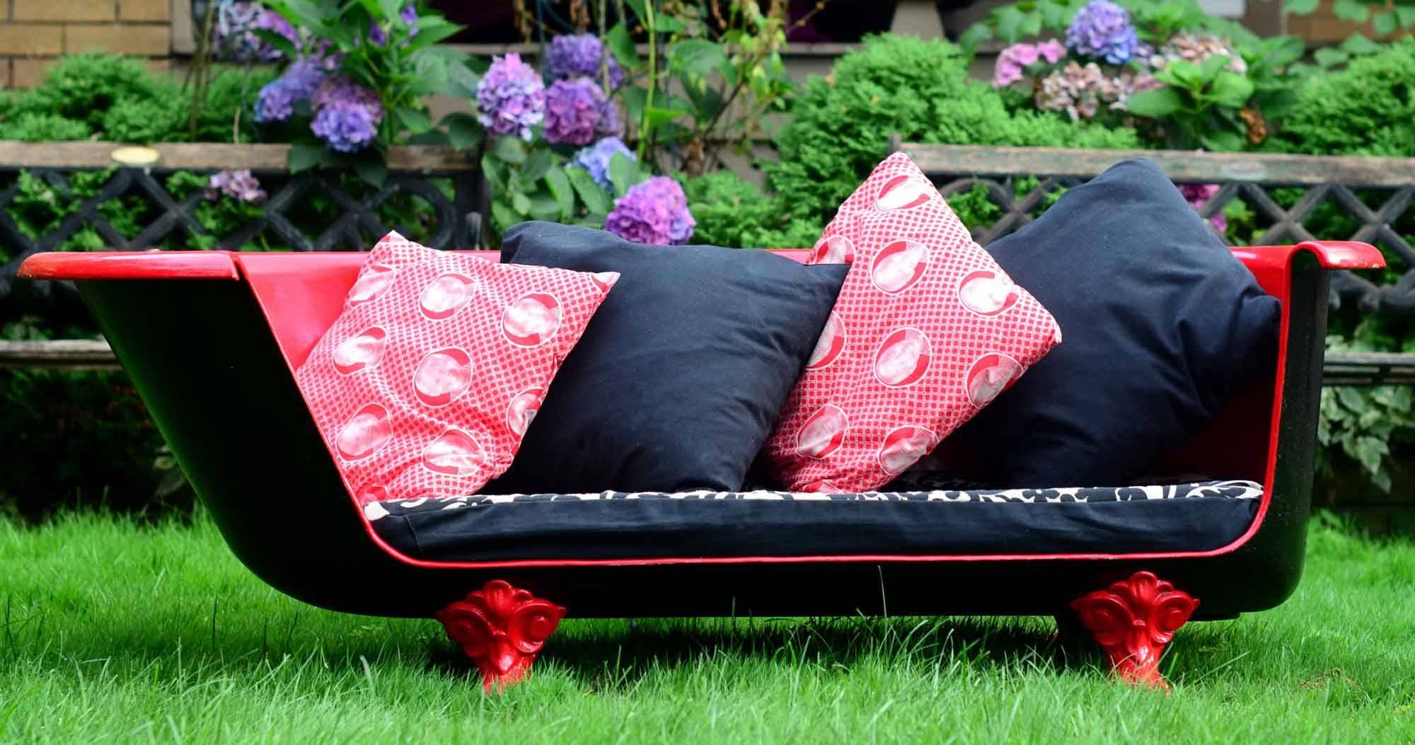 How To Make An Upcycled Vintage Cast Iron Claw-Foot Bathtub Sofa within Clawfoot Tub Sofas (Image 7 of 15)