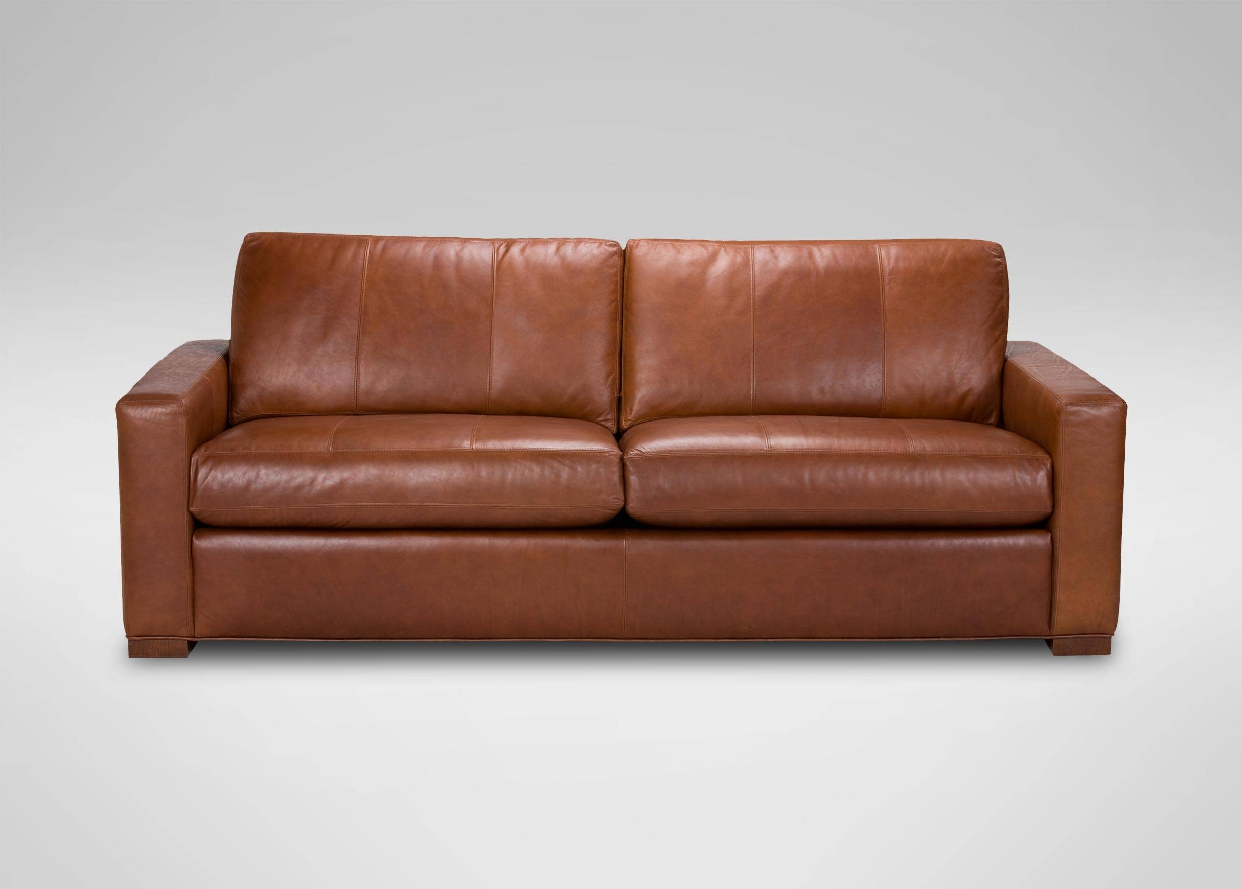 Hudson Leather Sofa | Sofas & Loveseats For Caramel Leather Sofas (View 8 of 15)