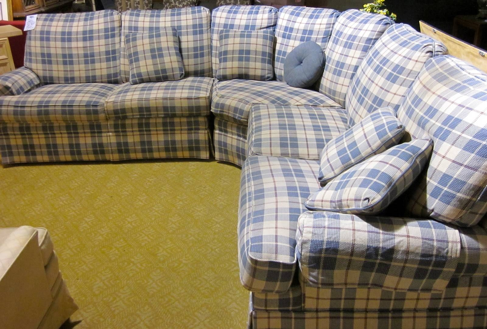 I Heart Ashley | Ashley Furniture in Blue Plaid Sofas (Image 3 of 15)