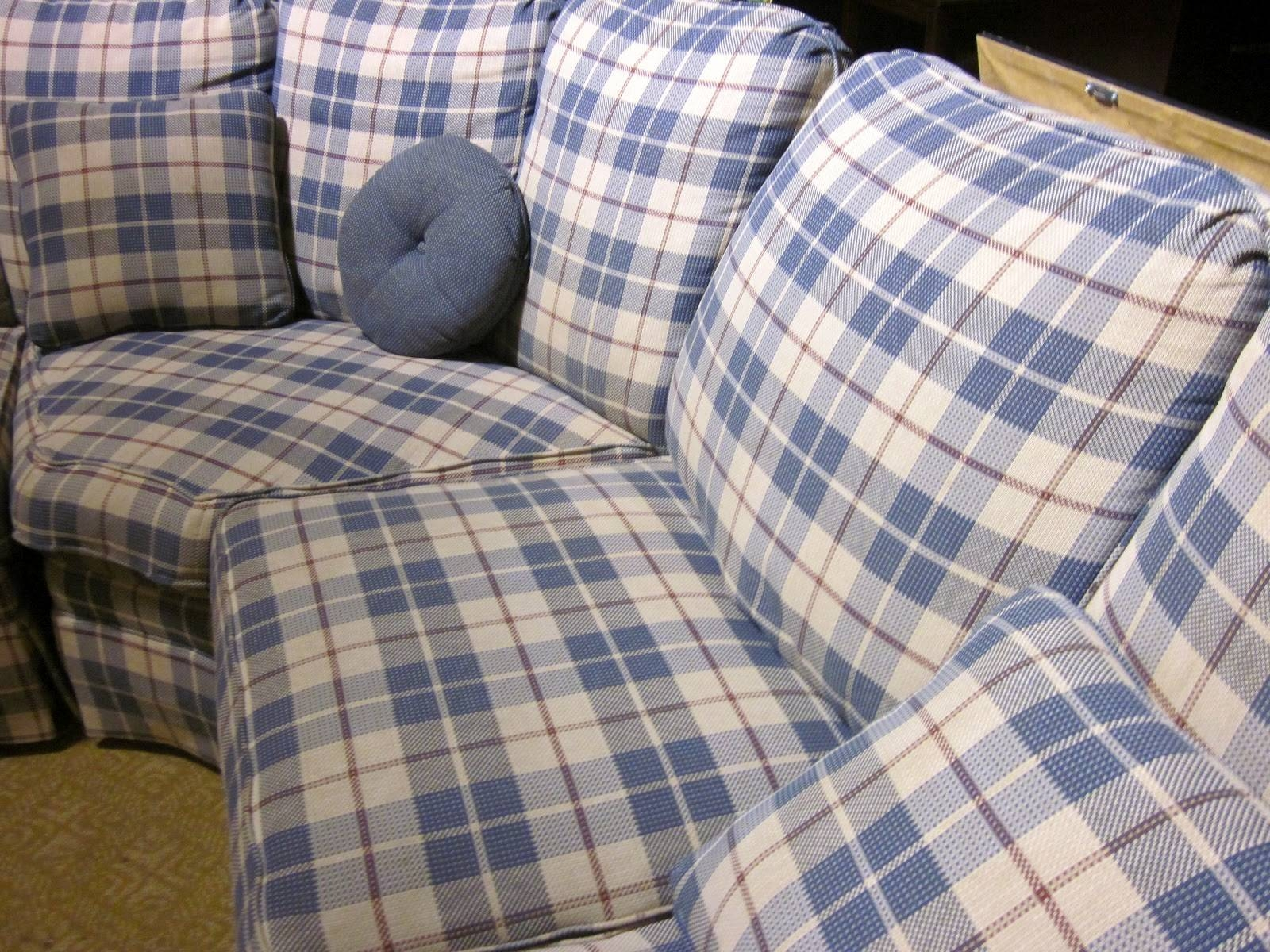 I Heart Ashley | Ashley Furniture throughout Blue Plaid Sofas (Image 4 of 15)