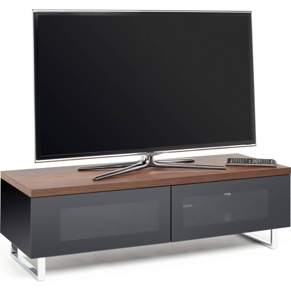 I.r. Friendly Black Glass Doors; Chrome Plated Legs; Screens Up To 60 with Techlink Tv Stands Sale (Image 9 of 15)