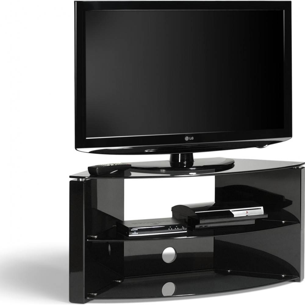 Ideal For Corner Installations; Simple Tension Rod Assembly for Techlink Corner Tv Stands (Image 5 of 15)